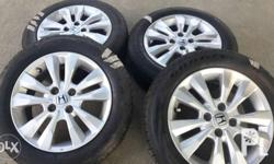 Honda city 2012 top of the line stock mags, goodyear