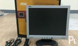 "AOC 15"" LCD VGA Silver Black Monitor (Square) - with"