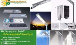All in One Solar Integrated Street Light wattage