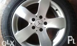 "16"" Benz OEM 5-spokes mags 16"" x 5H x 8"" x pcd 112 Very"