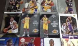 16 pieces lakers nba basketball cards with kobe