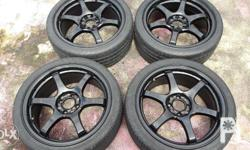 17 inch gramlyts mags with tires 4 holes Pcd100 No