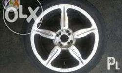 17 inch Kaizer Rims 4 holes pcd 100 and 114 Tires are