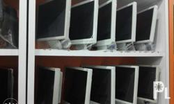 """17"""" LCD Monitor White with vga cable with power cable"""