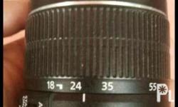 Canon lens for sale. 18-55 mm 95% smooth Good as new