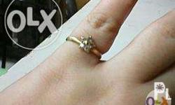 18k japAn gold ring, 1.5 grams, size 6, with diamonds