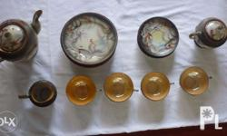 Selling an antique 1930's 18-piece Dragonware moriage