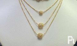 18K Saudi Gold Necklace 11.4 grams 16/17/18 inches +/-