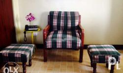 18yr old armchair/stools set for sale 550 for d