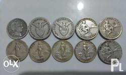 Take All 10 Pcs. at P500, Old Coins 1906 Silver Coin -