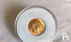 For sale 1909 edwardvs full sovereign great britain old