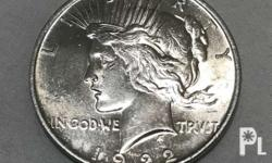 For sale Peace silver dollar Available years
