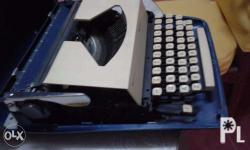 This was an vintage old type writer and its was made a