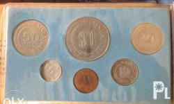 Selling my 1982 uncirculated coins from singapore. This