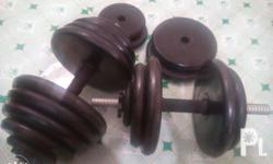 1 set of dumbbells,30 kg plates Rfs:busy sa work and