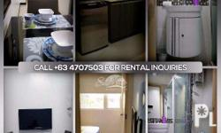 For only P25,000/month, Fully furnished 1 bedroom