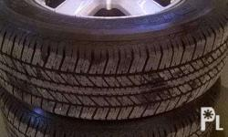 1set 265/65R17 mag whells tires for pickups and suv