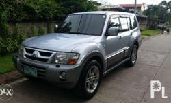 Two owner Pajero . Accident free . Has 20 inch mags and