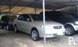 Deskripsiyon 2004 TOYOTA ALTIS 1ST OWNER LADY DRIVEN