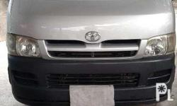 hiace commuter silver, diesel new tires good condition