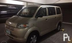 1st owner seller 2008 suzuki apv top of the line Manual