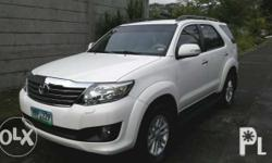 For Sale 2012 Toyota Fortuner g Manual Original paint