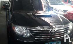 2013 ToyotaFortuner V 4x4 Automatic transmission Well