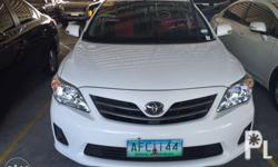 2014 Toyota altis 1.6e manual 538k White 1st owned Cold
