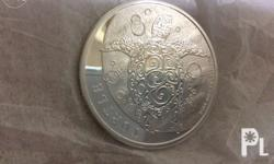 1 troy ounce 99.9% pure silver minted by the New