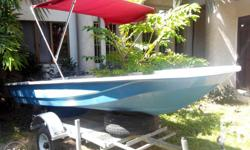 Speed boat with galvanize trailer;12 feet boat; 6