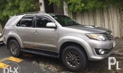 2015 Toyota Fortuner, (Acquired December 2014), 4x2 V,