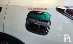 2016 + Fortuner Chrome gas tank cover. Made in