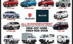 All in Down Payment Alto Mt. 18k Celerio MT 59k Celerio
