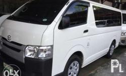 2017 Toyota Hiace Commuter 3.0 Manual White 1,900 Kms