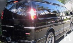 2018 GMC Savana Explorer Limited Extended Black and