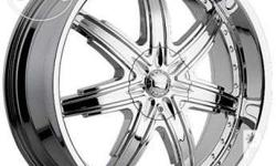 20 inch Devino chrome rims, 6 studs with avid SUV