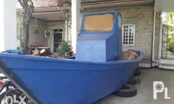 Slightly used fishing boat hull for sale. Made of