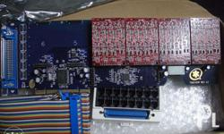 The 2400 Series of analog cards supports up to 24