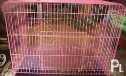 2 layer Cat cage available colors: Pink, Blue and