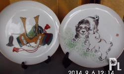 Authentic from Japan, 2 pieces Fukagawa decorative