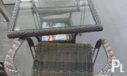 Coffee table (glass top) with 2 chairs each. P6,500 per