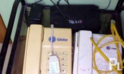 2 telephone 1 wifi router 1 spitter(Good for DSL and