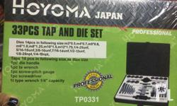 33pcs tap and die set hoyoma japan brand new we deliver