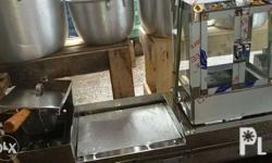 3 in 1 food equipment.steamer, deep fryer and burger
