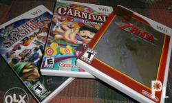 These are 3 Nintendo Wii games in Excellent condition!