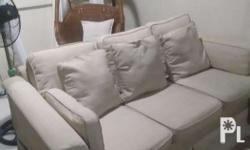 3 sitter sofa,beige color(washable covers)