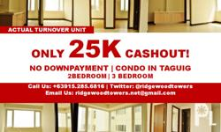 For sale affordable 3BR RFO Condo in Ridgewood towers