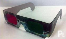 Paper 3D Anaglyph Eyeglass for viewing anaglyph games,