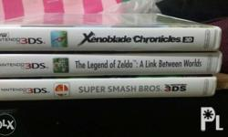 Selling my 3DS Games: Xenoblade: sold SSB:1100 LoZ: