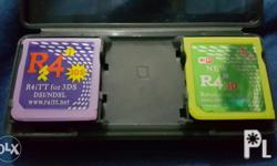 2nd used r4 for 3ds, no memory cards included, both are